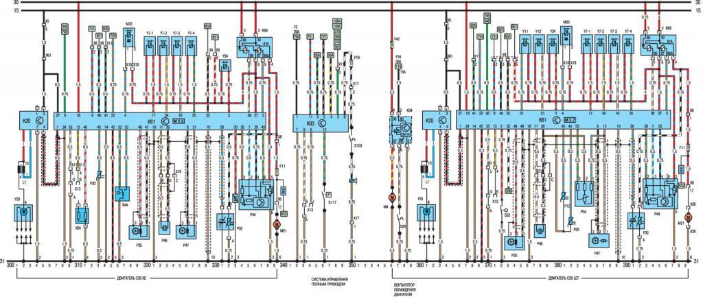 Электрическая схема моделей с