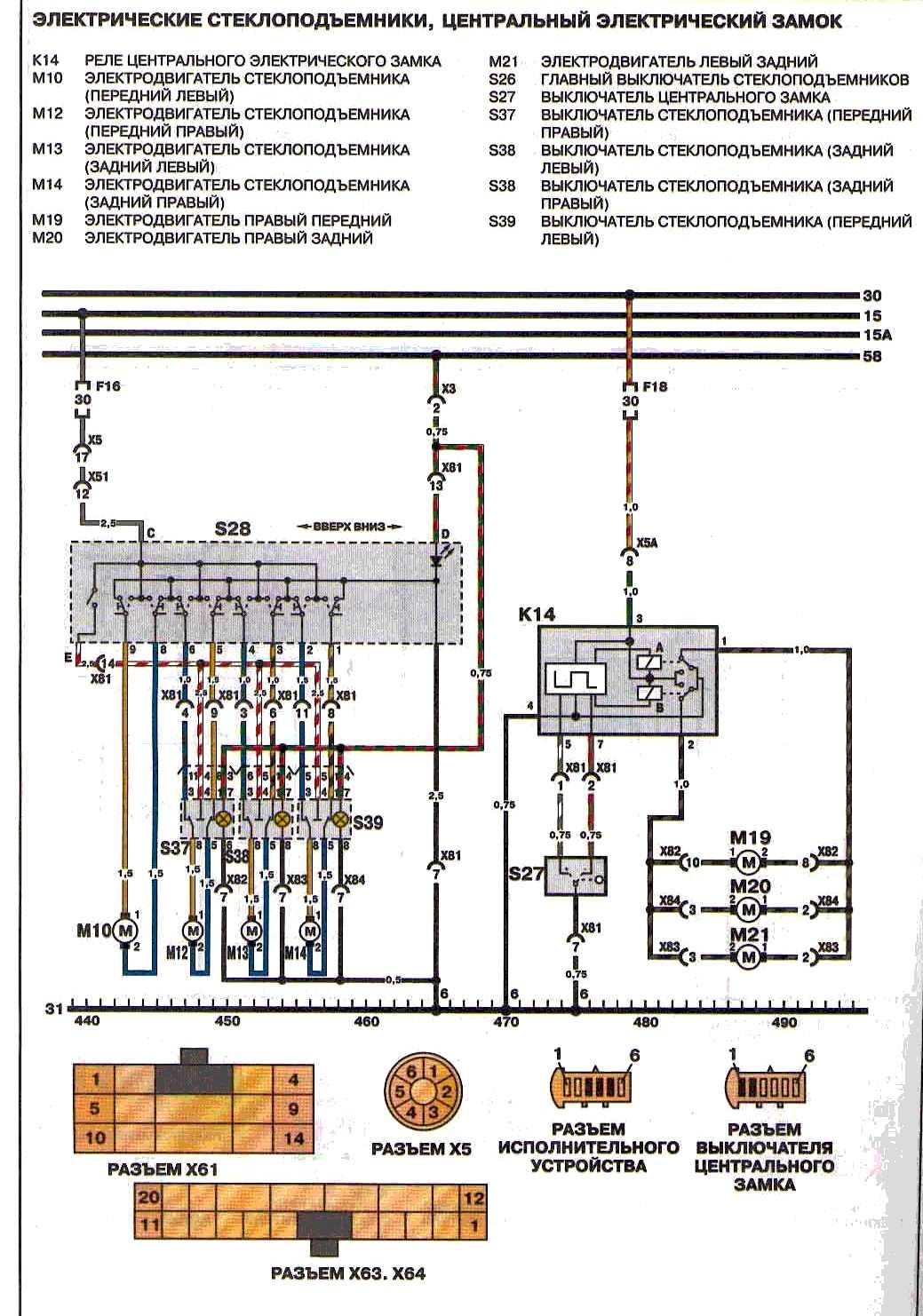 Электрические стеклоподъемники, центральный электрический замок.